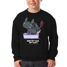 Sweat-shirts  parodique Krokmou le Dragon : Quand faut y aller... Faut y aller !! (Parodie )