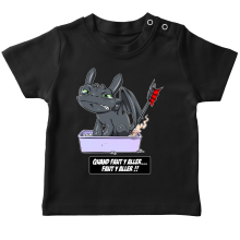 T-shirts  parodique Krokmou le Dragon : Quand faut y aller... Faut y aller !! (Parodie )