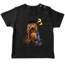 T-shirt bébé  parodique Chewbacca : Qu