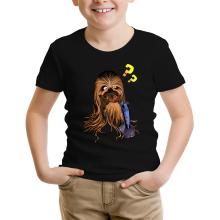 T-shirt Enfant  parodique Chewbacca : Qu