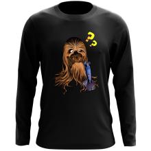 T-Shirt à manches longues  parodique Chewbacca : Qu