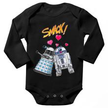 Body bébé manches longues  parodique R2-D2 in love d