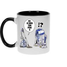 Mug  parodique R2-D2 : R2, je suis ton père (Super Deformed) (Parodie )