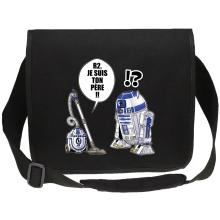 Sac bandoulière Canvas  parodique R2-D2 : R2, je suis ton père (Super Deformed) (Parodie )