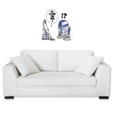 Sticker Mural  parodique R2-D2 : R2, je suis ton père (Super Deformed) (Parodie )