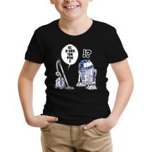 T-shirt Enfant  parodique R2-D2 : R2, je suis ton père (Super Deformed) (Parodie )