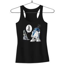 Débardeur Femme  parodique R2-D2 : R2... Je suis ton père ! (en VO remasterisée !) (Parodie )