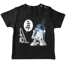 T-shirt bébé  parodique R2-D2 : R2... Je suis ton père ! (en VO remasterisée !) (Parodie )