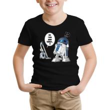 T-shirt Enfant  parodique R2-D2 : R2... Je suis ton père ! (en VO remasterisée !) (Parodie )