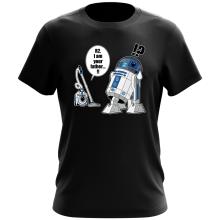 T-shirt  parodique R2-D2 : R2... Je suis ton père ! (en VO remasterisée !) (Parodie )