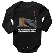 Body bébé manches longues  parodique Krokmou : Rien de tel qu