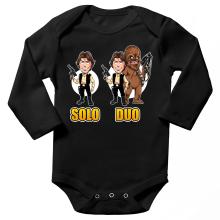 Body bébé manches longues  parodique Le Duo Han Solo et Chewbacca : Solo Duo :) (Parodie )