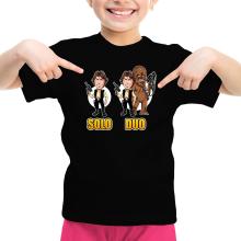 T-shirt Enfant Fille  parodique Le Duo Han Solo et Chewbacca : Solo Duo :) (Parodie )