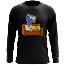 T-Shirt à manches longues  parodique Les Minions et Homer Simpson : The Simnions (Parodie )