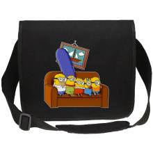 Sac bandoulière Canvas  parodique Les Minions et Homer Simpson : The Simnions (Parodie )