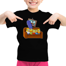 T-shirt Enfant Fille  parodique Les Minions et Homer Simpson : The Simnions (Parodie )