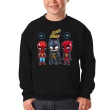 Pull Enfant  parodique Batman, Deadpool et Spider-Man : Un léger problème de conception au niveau du masque... (Parodie )