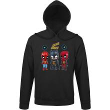 Sweat à capuche  parodique Batman, Deadpool et Spider-Man : Un léger problème de conception au niveau du masque... (Parodie )