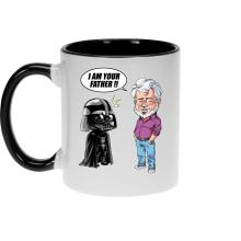 Mugs  parodique Dark Vador et George Lucas - I am your Father : Un père pas si inconnu que ça... :) (Version Originale) (Parodie )