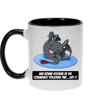 Mugs  parodique Krokmou le Dragon : Une bonne hygiène de vie commence toujours par...soi ! (Parodie )
