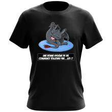 T-shirt  parodique Krokmou le Dragon : Une bonne hygiène de vie commence toujours par...soi ! (Parodie )