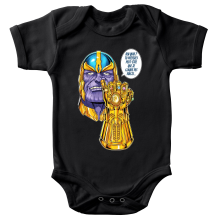 Body bébé  parodique Thanos le Super-Vilain d