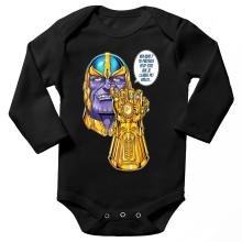 Body bébé manches longues  parodique Thanos le Super-Vilain d