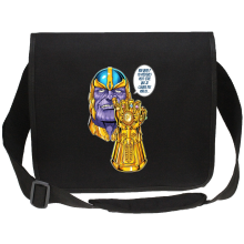 Sac bandoulière Canvas  parodique Thanos le Super-Vilain d