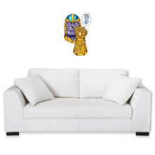 Sticker Mural  parodique Thanos le Super-Vilain d