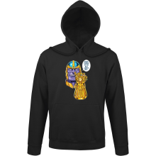 Sweat à capuche  parodique Thanos le Super-Vilain d