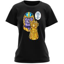 T-shirt Femme  parodique Thanos le Super-Vilain d
