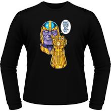 T-Shirts à manches longues  parodique Thanos le Super-Vilain d