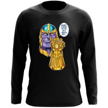 T-Shirt à manches longues  parodique Thanos le Super-Vilain d