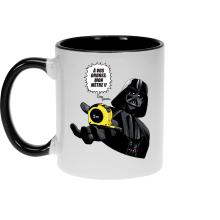 Mugs  parodique Dark Vador : A vos ordres, mon Mètre... !! (Parodie )