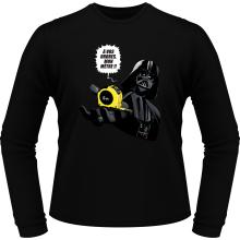T-Shirts à manches longues  parodique Dark Vador : A vos ordres, mon Mètre... !! (Parodie )