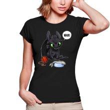 T-shirts Femmes  parodique Krokmou : Après le poisson chat... Le Dragon Chat :) (Parodie )