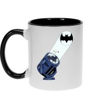 Mugs  parodique Batman et son célèbre Bat-Signal : Bat Projecteur !! (Parodie )