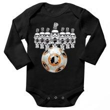 Body bébé manches longues  parodique BB-8 Vs les Stormtroopers : BB Bowling... (Parodie )