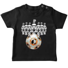 T-shirt bébé  parodique BB-8 Vs les Stormtroopers : BB Bowling... (Parodie )