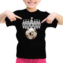 T-shirt Enfant Fille  parodique BB-8 Vs les Stormtroopers : BB Bowling... (Parodie )