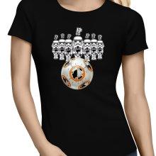 T-shirts Femmes  parodique BB-8 Vs les Stormtroopers : BB Bowling... (Parodie )