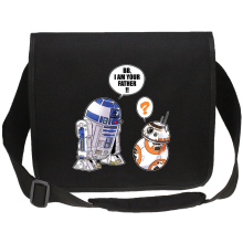 Sac bandoulière Canvas  parodique R2-D2 et BB-8 : BB, I am your father (VO) (Parodie )