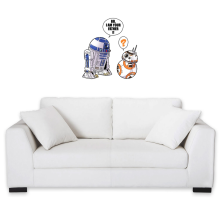 Sticker Mural  parodique R2-D2 et BB-8 : BB, I am your father (VO) (Parodie )