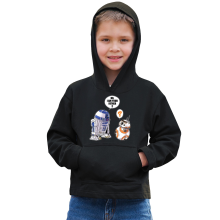 Sweat à capuche Enfant  parodique R2-D2 et BB-8 : BB, I am your father (VO) (Parodie )