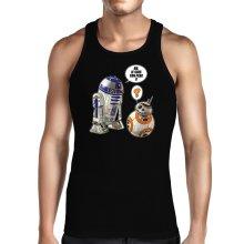 Débardeurs  parodique BB-8 et R2-D2 : BB, je suis ton père !! (Parodie )