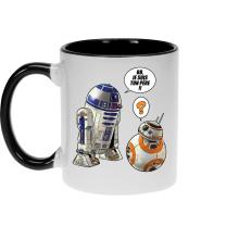 Mug  parodique BB-8 et R2-D2 : BB, je suis ton père !! (Parodie )
