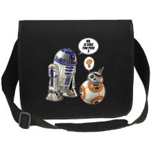 Sac bandoulière Canvas  parodique BB-8 et R2-D2 : BB, je suis ton père !! (Parodie )
