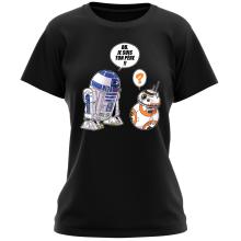 T-shirts Femmes (French Days)  parodique BB-8 et R2-D2 : BB, je suis ton père (Super Deformed Edition) (Parodie )