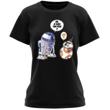 T-shirt Femme  parodique BB-8 et R2-D2 : BB, je suis ton père (Super Deformed Edition) (Parodie )