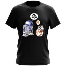 T-shirt  parodique BB-8 et R2-D2 : BB, je suis ton père (Super Deformed Edition) (Parodie )